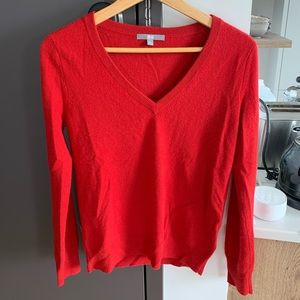 Uniqlo cashmere V neck red sweater size S